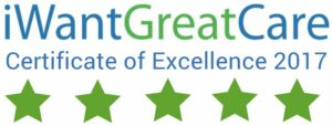 IWantGreatCare - Certificate of Excellence 2017