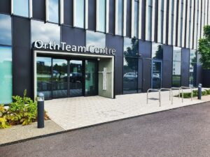 the entrance to the orthteam centre at the spir hospital